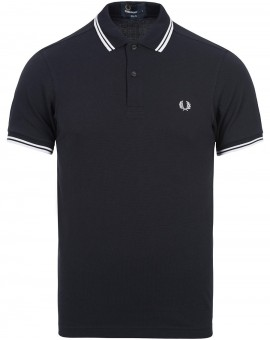 FRED PERRY NAVY/WHITE POLO TWIN TIP