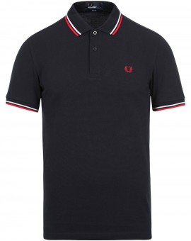 FRED PERRY NAVY POLO TWIN TIP