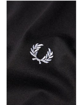 FRED PERRY BLACK PLAIN CREW NECK