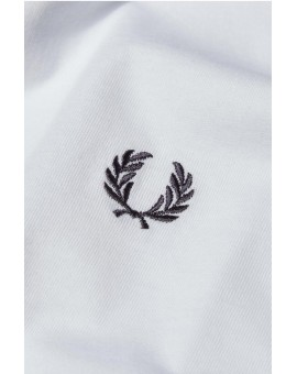 FRED PERRY WHITE PLAIN CREW NECK